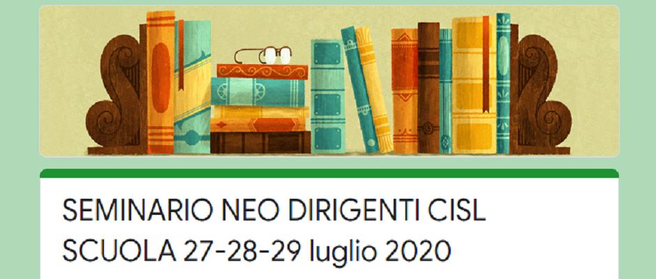 24/25 luglio - Seminario per i nuovi Dirigenti Scolastici