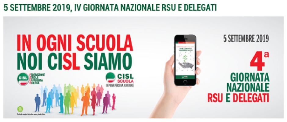 CISL Scuola, il 5 settembre Giornata Nazionale RSU e Delegati. Al centro lavoro e ambiente