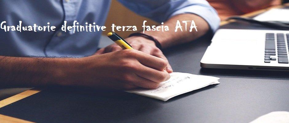 Pubblicazione graduatorie definitive di circolo e d'istituto di terza fascia ATA